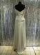 1930's Cream satin gown with lace straps/38