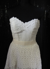 1950's Cream strapless WESTERBY gown/34-36