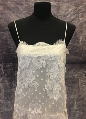 1970's 20's-style White lace dress with straps/38