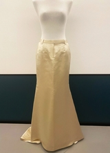 1990's Cream silk couture skirt/36