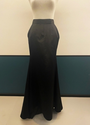 1990's Black silk couture skirt/40