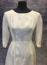 1960's Cream brocade gown with huge train/36