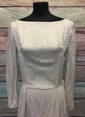 1960's Silver brocade gown/38