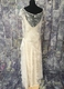 1920's-style Ivory lace bias-cut gown/42