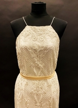 1990's White lace gown/38