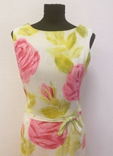 1960's Floral wiggle dress/38