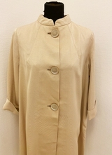 1960's Cream coat with big buttons/40-42