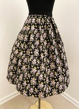 1950's-style Black floral skirt/38