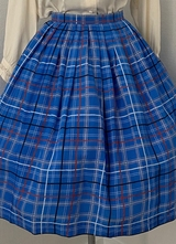 1960's Blue check skirt/38