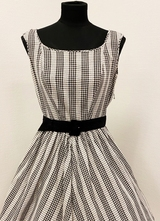 1960's Black'n White check dress/38