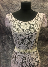 1930's-style Lavender lace gown with gown/38