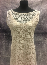 1930's-style Ivory bias-cut lace gown/40