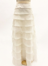 1990's Cream organza skirt/38