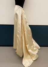 1990's Cream silk silk skirt/36