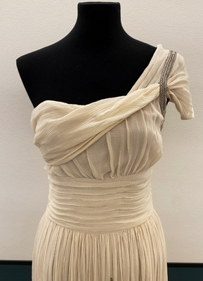 1930's-style Rose-lavender chiffon gown/36