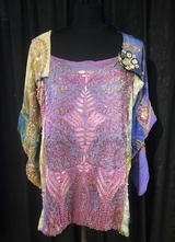 1920's Multi-beaded patchwork top/38