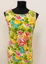 1960's Green floral dress/36