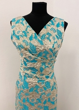 1960's Golden brocade gown/38