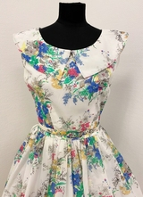 1950's White floral dress/36