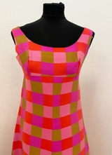 1960's Pink check dress/36