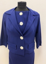 1960's Navy dress with jacket/34
