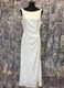 1990's Ivory crepe gown with lace back/40