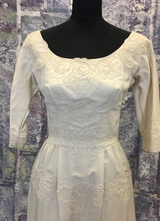 1960's Ivory NEW YORK couture gown/34-36