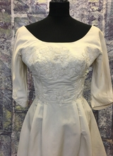 1960's Ivory NEW YORK couture gown with train/34
