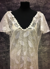 1930's Ivory lace gown/42