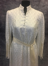 1960's White silver brocade gown/42