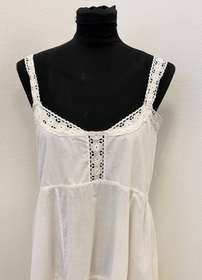 1920's White cotton dress/36-38