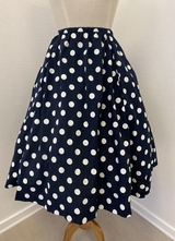 1950's Navy skirt with side-pockets/36