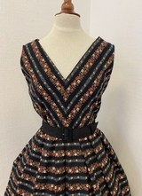 1950's-style Black floral dress/40
