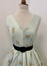 1950's-style Mint-green floral dress/42
