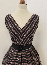 1950's-style Black floral dress/38