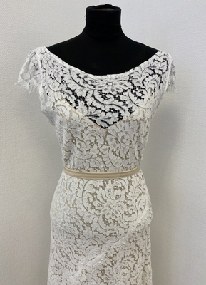 1930's-style White lace gown/38