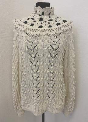 1910's-style Ivory handmade sweater/38