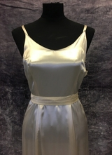 1940's Cream satin gown/38