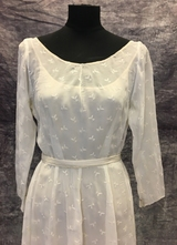 1950's Cream organza gown/38
