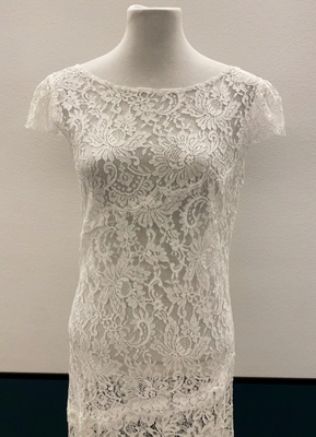 1930's-style Ivory lace collage gown/40