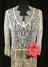 1930's-style White floral lace BODIL-dress/40