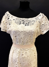 1930's-style Cream French lace gown/38-40