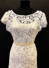 1930's-style White French lace gown/38