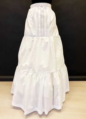 1950's White broderie anglaise skirt/36