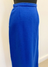 1960's Blue wool skirt/34