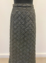 1970's Grey quilted skirt/36