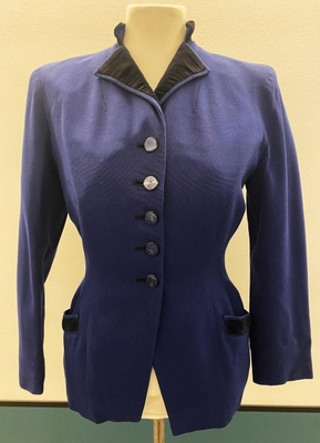 1950's Navy jacket with black details/34-36