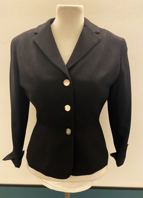 1950's Black fitted jacket/36