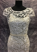 1990's White lace dress/36-38