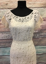 1930's-style Ivory mermaid lace gown/40